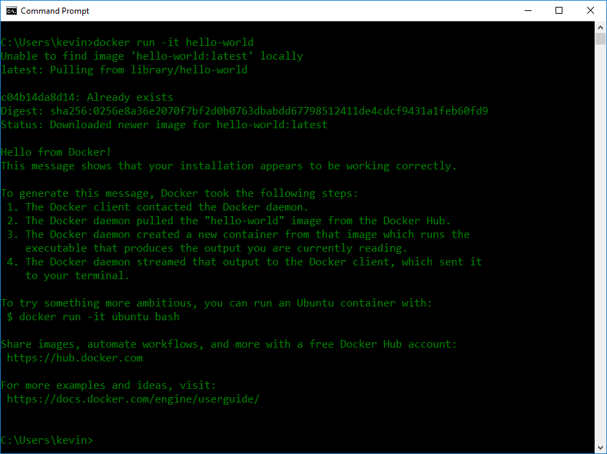 Running Linux Docker containers on Windows without
